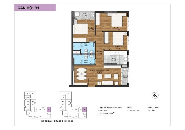 thiết kế căn hộ b1