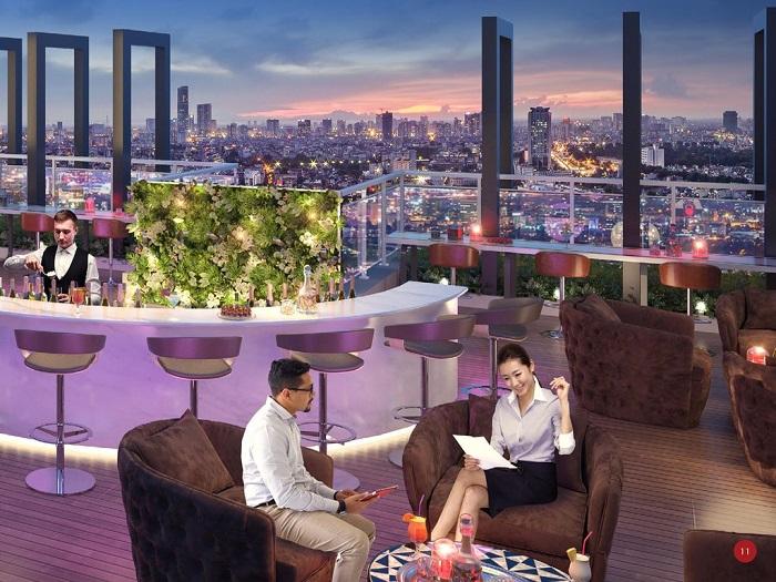Tiện ích đẳng cấp - Sky Bar tại Chung cư The Park Home